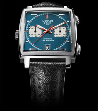 The iconic blue dial and square face turned heads while turning  the watch making world on its head.