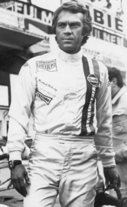 Steve McQueen in the set of Le Mans