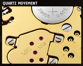 A look at the Quartz Movement of the Formula 1 Steel and Ceramic Full Diamonds watch.