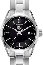 TAG Heuer Carrera Womens Polished Steel Watch WV1414.BA0793