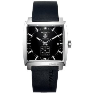 Tag Heuer Men's Monaco Black Stainless Steel Watch WW2110.FT6005