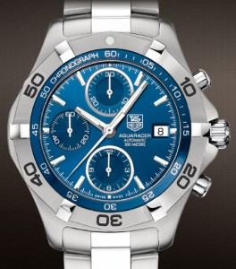 Blue dial version of the Tag Heuer Aquaracer CAF2110.BA0809
