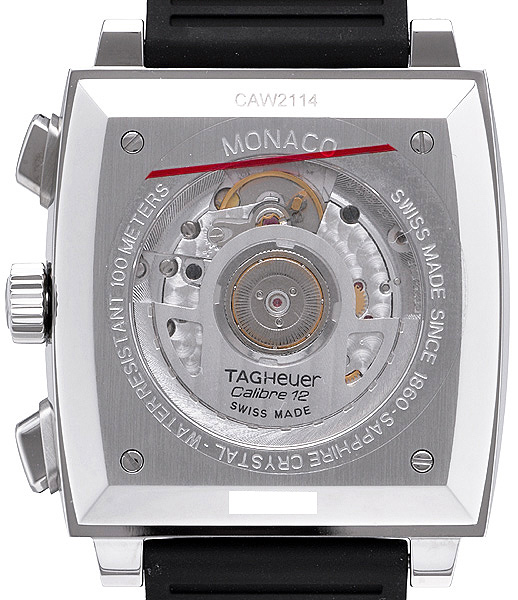 Monaco Wristwatch, back view