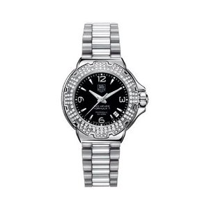 Tag Heuer Formula 1 Women's Watch WAC1214.BA0852; stainless steel, black dial, bezel with diamonds