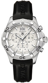 Tag Heuer Aquaracer Men's Watch CAF101F.FT8011: black rubber straps, silver stainless steel