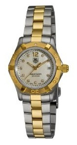 TAG Heuer Women's Aquaracer Two Toned Diamond Watch WAF1425.BB0825