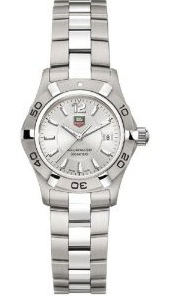 Front view of the TAG Heuer Women's Aquaracer Stainless Steel Watch WAF1412.BA0823