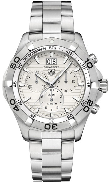 Tag Heuer Aquaracer Collection Silver Watch caf101f.ba0821- caf101fba0821