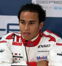 Photo of race car driver Lewis Hamilton