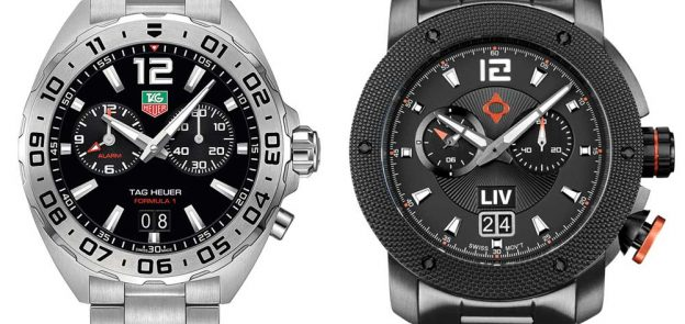 Tag Heuer Formula 1 Analog Alarm vs LIV Watches GX Alarm